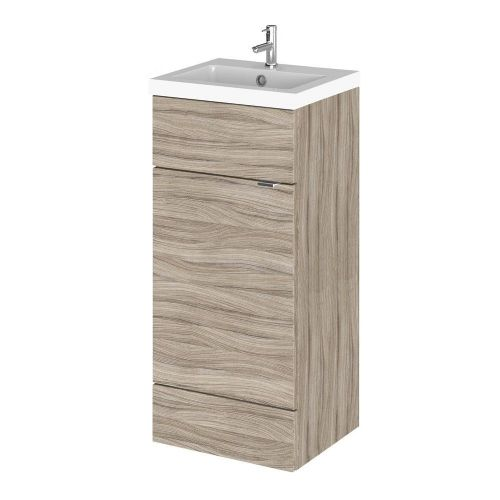 Elite Driftwood 400mm Full Depth Vanity Unit & Basin